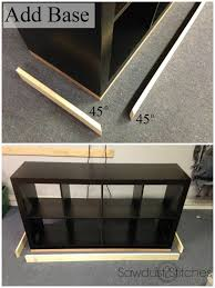 she used this old ikea shelf and turned it into an incredible faux