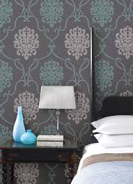 Blue Feature Wall In Bedroom Turquoise Blue And With Charcoal Grey Contrast Love These Colors
