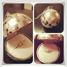 engagement ring ornament box on the hunt