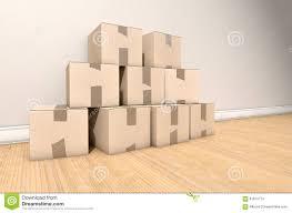 Cardboard House by Cardboard Box Pile House Stock Photo Image 61879713