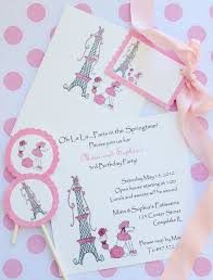 Eiffel Tower Invitations Paris Inspired Theme Lifes Little Celebration