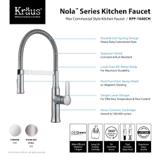 commercial style kitchen faucets nola single lever kitchen faucet kpf 1640 by kraus yliving