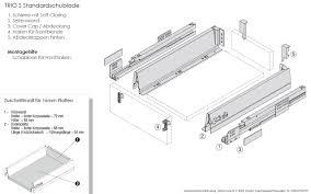 nobilia küche schubladen ausbauen küchenschubladen triomax set für standardschubladen