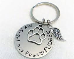 remembrance keychain memorial keychain etsy