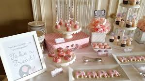 pink and gray baby shower pink and gray elephant baby shower party ideas photo 1 of 6