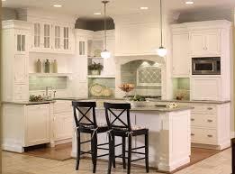 green tile backsplash cabinet backsplash