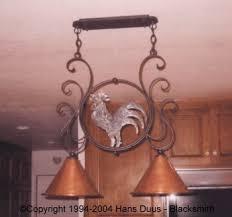 Wrought Iron Island Light Fixture Custom Wrought Iron Lighting Fixtures Hans Duus Blacksmith Inc