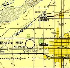 mesa az map abandoned known airfields arizona northeastern area