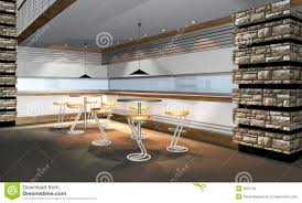 3d render of modern restaurant interior stock photography image