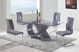 large glass top dining table d989 dining table w glass top grey base by global w options