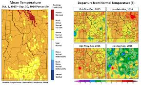 Oregon Temperature Map by Drought Sage Winds