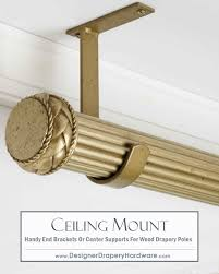 Western Curtain Rod Holders by Simple And Fast Ceiling Mount Installations For Wood Drapery