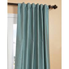 exclusive fabrics blue agave yarn dyed faux dupioni silk curtain