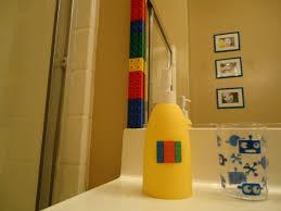 kids bathroom idea with colorful curtain and wall art idea playuna bathroom large size kids bathroom ideas 1600x1200 shaped by grace lego bathroom before amp after