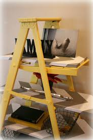 Cool Wood Furniture Ideas Decorating Using Stunning Leaning Ladder Shelf For Modern Home