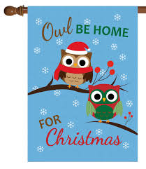 owl be home for house flag 28 x 40 custom