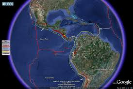 World Plate Boundaries Map by Worldvolcanoes Caribbean Plate 5