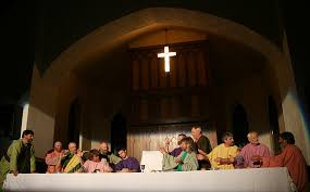 the last supper drama begins holy week at a rural minnesota church minnesota prairie roots
