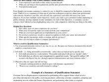 Summary Statement In Resume Customer Service Resume Summary Statement Free Resume