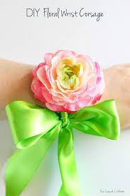 prom wrist corsage ideas diy floral wrist corsage