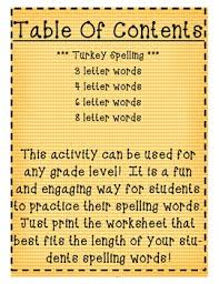 thanksgiving and autumn spelling worksheet can use with any