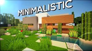 minecraft pe minimalistic modern house download youtube