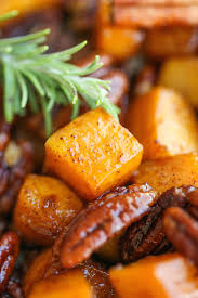 cinnamon pecan roasted butternut squash damn delicious