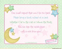 Baby Shower Book Instead Of Card Poem Baby Shower Invitation Wording For First Twinkle Little Star