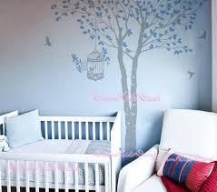 fresque murale chambre bébé arbre mur autocollant bébé fille nature