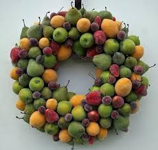 fruit wreath sugared fruit wreath
