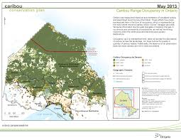 Population Density Map Of Canada by Caribou Boreal Population Ontario Ca