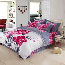 inspired bedding white and grey peony flower print inspired