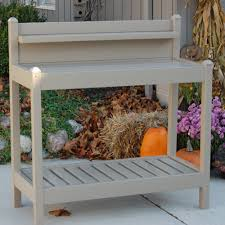 coral coast halstead outdoor wood potting bench with storage