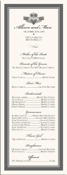 simple wedding program wording creative wedding programs 21st bridal world wedding ideas