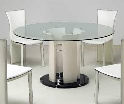 funiture rounded transparent glass top kitchen tables with chrome