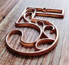 vertical vine modern house numbers address sign ranch sign