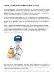 sample complaint letter for courier services 1 638 jpg cb u003d1426883750