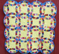 wedding ring quilt pattern wedding ring quilts traditional and contemporary