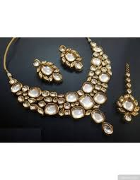 bridal necklace set images Artificial uncut kundan semi bridal necklace set jpg