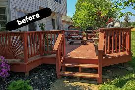deck u0026 cover backyard deck ideas u0026 our deck makeover reveal