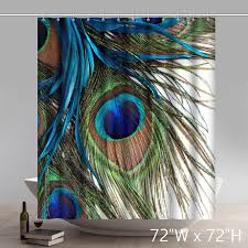 Peacock Curtains Liberty Blue Peacock Feathers Bathroom Shower Curtains