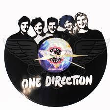 one direction vinyl art handmade wall clock horloges uhr reloj de vinilo orologio in vinile price gift perfect the best wholesale jpg