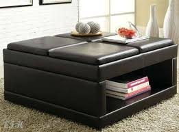 Leather Storage Ottoman Flip Top Storage Ottoman Wood Tray Top Leather Espresso Tray Top
