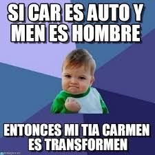 si car es auto y es hombre success kid meme on memegen