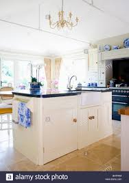 Kitchen Island Worktop by Belfast Sink In Cream Island Unit With Granite Worktop In Large