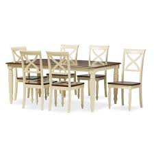 dining room tables with extension leaves baxton studio ashton modern country cottage buttermilk and