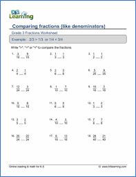 grade 3 fractions and decimals worksheets free u0026 printable k5