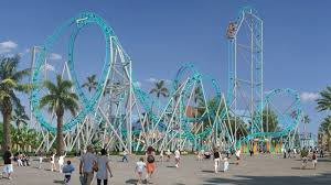 ups downs and roller coasters and theme parks