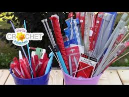 how to size your crochet hooks and knitting needles youtube