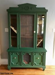 make a indoor rabbit hutch from a china cabinet u2022 craft thyme